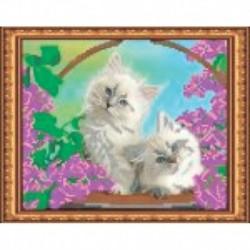 Набор для вышивания бисером «Котята» 24x19 см