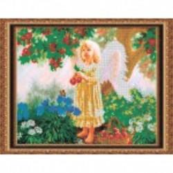 Набор для вышивания бисером «Ангелочек» 38x30 см