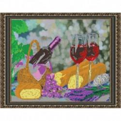 Набор для вышивания бисером «Натюрморт с вином» 39x31 см