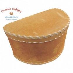 Короб из бересты для хлеба полукруглый
