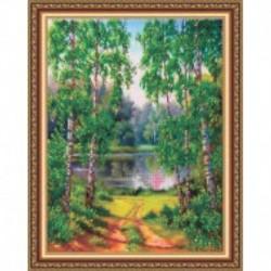 Набор для вышивания бисером «Краски лета» 38x48 см