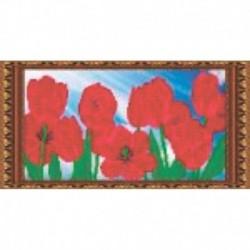Набор для вышивания бисером «Тюльпаны» 38,2x19,7 см