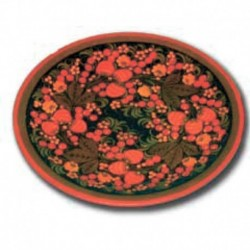 Хохлома сувенирная Тарелка панно 21 см