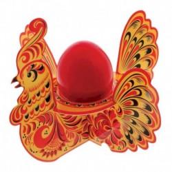 Подставка пасхальная на 1 яйцо 'Хохлома' (петух)