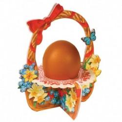Подставка пасхальная на 1 яйцо 'Цветочная корзинка', 11 х 13,5 см