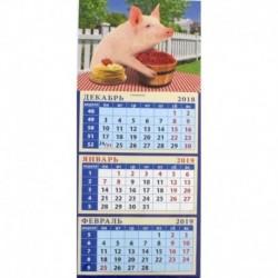 Календарь магнитный «Год поросенка. Жизнь удалась» на 2019 год
