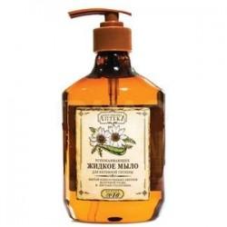 Интимное мыло 'Рецепт № 16 Успокаивающее, настой измельченных цветков маточной травы и листьяев столетника', 400 мл