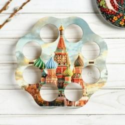 Подставка пасхальная на 8 яиц 'ХВ' храм Василия Блаженного