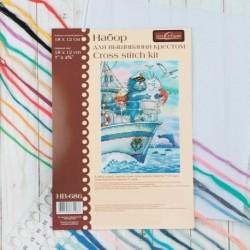 Набор для вышивания мулине 'Море любви' 18х12 см