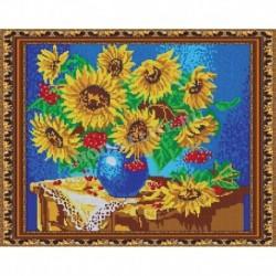 «Светлица» набор для вышивания бисером №583П «Подсолнухи» бисер Чехия 38x30см