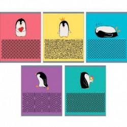 Тетрадь 'Приключения пингвина', А5, 48 листов, клетка
