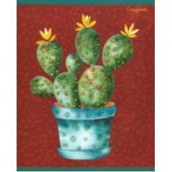 Тетрадь 'Изумрудные кактусы' (48 листов, А5, клетка, в ассортименте) (КБ486217)