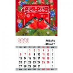 Календарь 2020 'Снегири. Красный фон'