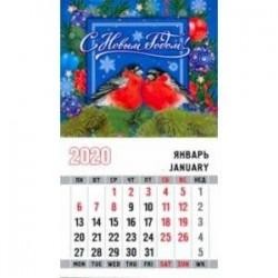 Календарь 2020 'Снегири. Cиний фон'