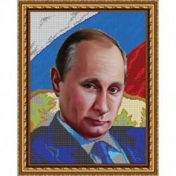 «Светлица» набор для вышивания бисером №460 «Путин В.В.»» бисер Чехия 24x30см