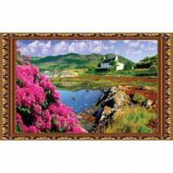 «Светлица» набор для вышивания бисером №081 «Чудная долина» бисер Чехия 50x31см