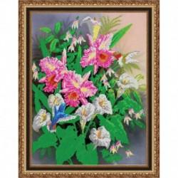 «Светлица» набор для вышивания бисером №378 «Поэзия цветов» бисер Чехия 30x38см