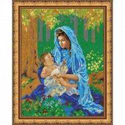 «Светлица» набор для вышивания бисером №455 «Мамина радость» бисер Чехия 24x30 см