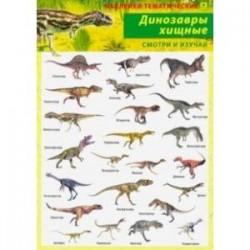 Динозавры хищные. Наклейки тематические