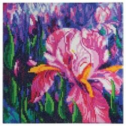 Алмазная картина 'Лиловые ирисы' 30x30 см