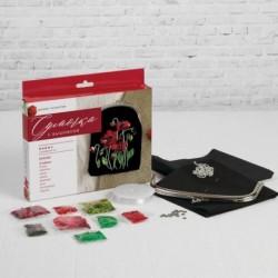 Набор для вышивания бисером на сумке 'Маки'