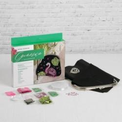Набор для вышивания бисером на сумке 'Фламинго'