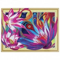 Алмазная картина с фигурными стразами на пенокартоне «Сказочные лотосы» 30x40 см