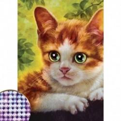 Алмазная вышивка с частичным заполнением 'Котёнок', 15x21 см