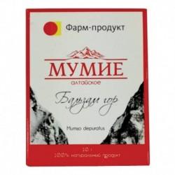 Мумие Алтайское вязкая масса, 10г