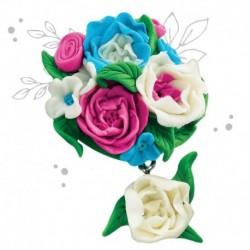 Брошь из полимерной глины своими руками 'Цветы'