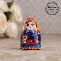 Сувенир напёрсток 'Матрёшка. Русские просторы', керамика