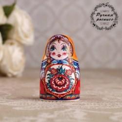 Сувенир напёрсток 'Матрёшка. Цветок', керамика