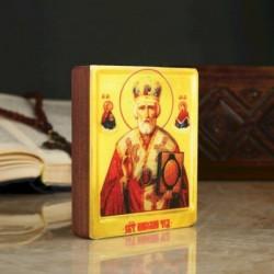 Икона «Николай Чудотворец», 9x11x2,6 см, липа