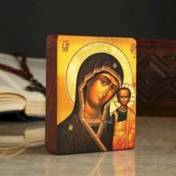 Икона «Казанская», 9x11x2,6 см, липа