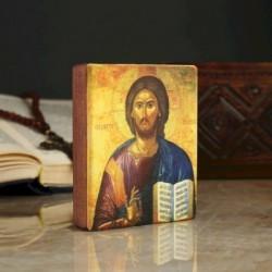 Икона «Иисус», 9x11x2,6 см, липа