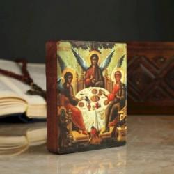 Икона «Святая троица», 9x11x2,6 см, липа