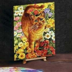 Картина по номерам на холсте 30x40 см «Кот на лужайке»