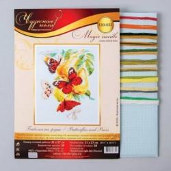 Набор для вышивания крестом «Бабочки на груше» 21x27 см