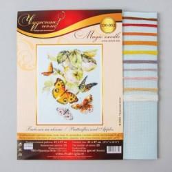 Набор для вышивания крестом «Бабочки на яблоне» 21x27 см
