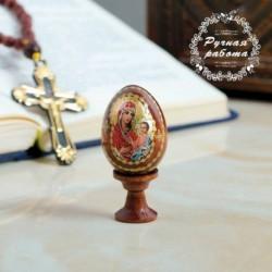 Яйцо сувенирное 'Богоматерь Иверская', на подставке