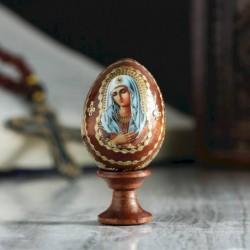 Яйцо сувенирное 'Богоматерь Умиление', на подставке