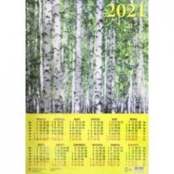 Календарь настенный на 2021 год 'Березовая роща' (90114)