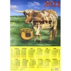 Календарь на 2021 год 'Год быка. Удачный год' (90120)