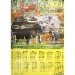 Календарь настенный на 2021 год 'Год быка. Приятная компания' (90127)