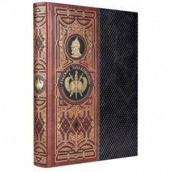 Русские полководцы. Книга в коллекционном кожаном инкрустированном переплете ручной работы с золочёным обрезом