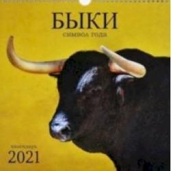 Календарь на 2021 год квадратный средний 'Символ года. Дизайн 1' (КПКС2101)