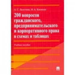 200 вопросов гражданского, предпринимательского и корпоративного права в схемах и таблицах