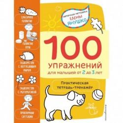 2+ 100 упражнений для малышей от 2 до 3 лет. Практическая тетрадь-тренажёр