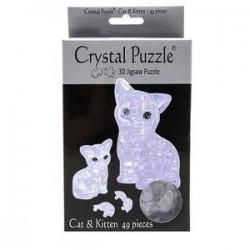 3D головоломка Кошка серебристая (90126)