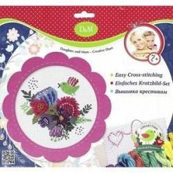 Набор для вышивания крестиком 'Цветы и птицы' (57899)